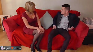 AgedLove Lovely blonde granny is fucked by horny man