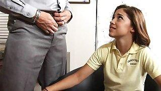 Tiny Young Petite Latina High School Teen Nailed By Teacher