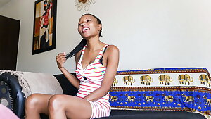 Thin African Slut Would do ANYTHING to Become Prominent
