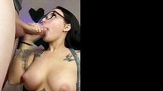 Big Tit Alt Teenage Stella Rae Sucks Big Dick Until Cum Covered Face