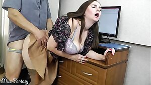 Wifey cheating on husband at work with the boss