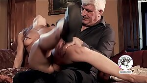 Pussy slapping for cute gimp girl