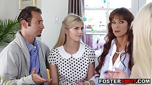 Hot foster daughter fucking her mom and dad